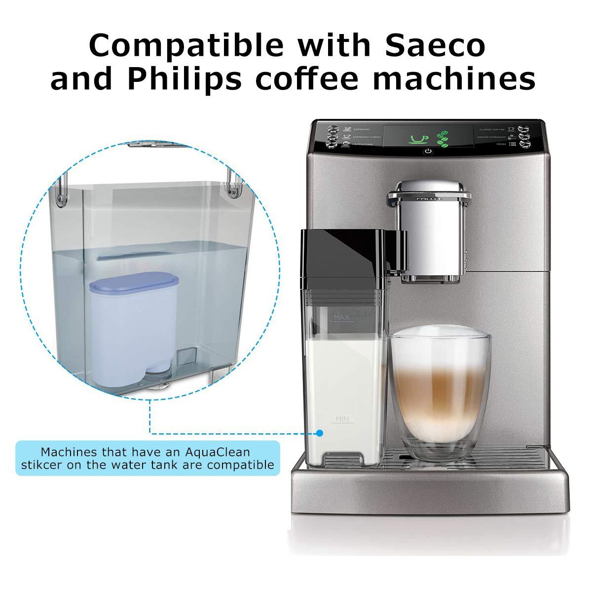 SUPTEMPO Filtro de Agua para Cafeteras Philips y Saeco, Filtro de ...