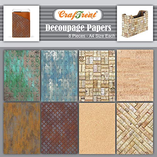 Flower Decoupage Paper for Wood Furniture and Scrapboking CrafTreat Floral Decoupage Paper for Crafts Mini Flowers Size: A4-8 Pcs
