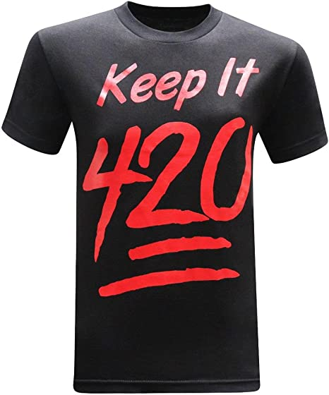 bbb9aade1 tees geek Keep It 420 Pot Weed Stoner Marijuana Men's Funny T-Shirt - (