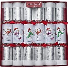 Robin Reed 6-Piece Racing Snowman Christmas Crackers 707