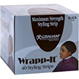 Graham Professional Beauty Wrapp-It Black Styling Strips