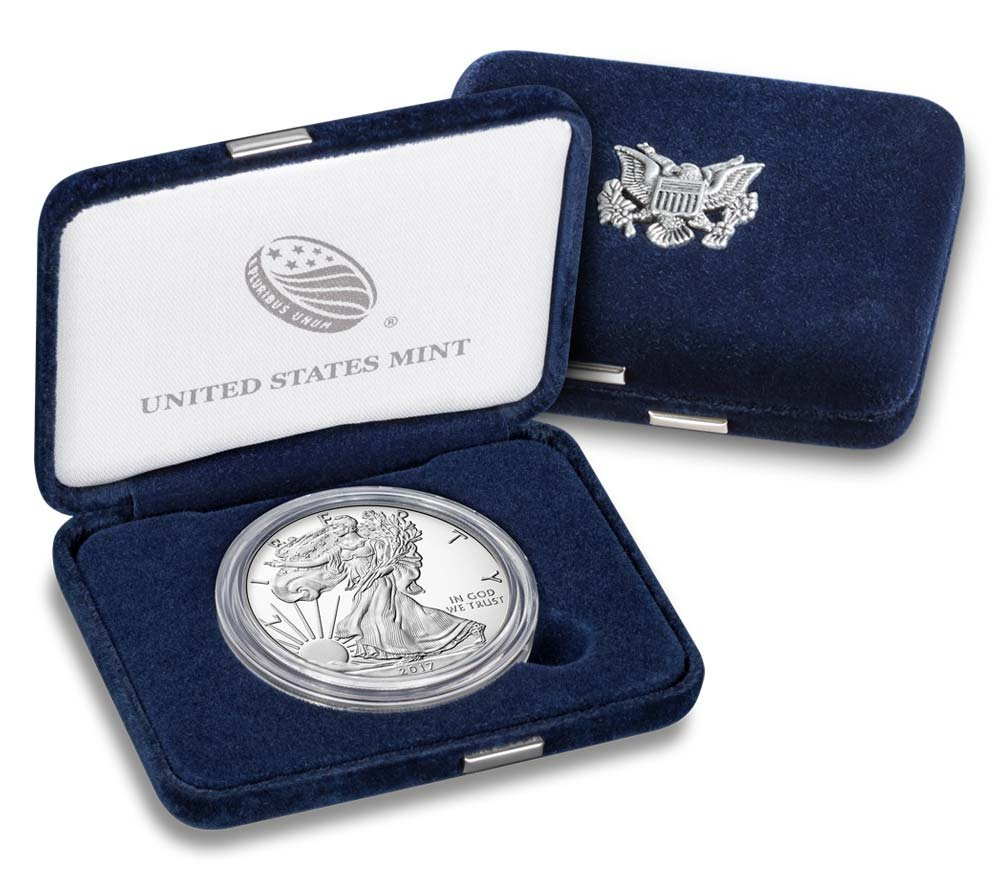 2017 W Silver Eagle 2017 W Silver Eagle Proof Just Released 1 oz $1 With Box And COA $1 Proof US Mint DCAM