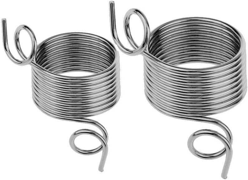 Milisten 2 St/ücke Metall Garnf/ührer Finger Halter Stricken Fingerhut DIY Garn Strang Guide f/ür H/äkeln Stricken Handwerk Zubeh/ör L S