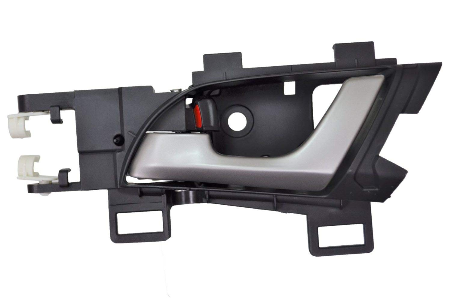 PT Auto Warehouse HO-2307RA-RL Silver Lever with Black Housing Interior Inner Inside Door Handle Rear Left Driver Side