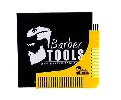 ✮ BARBER TOOLS ✮ peine plantilla contornos barba de trazador para un contorno de afeitar, ...