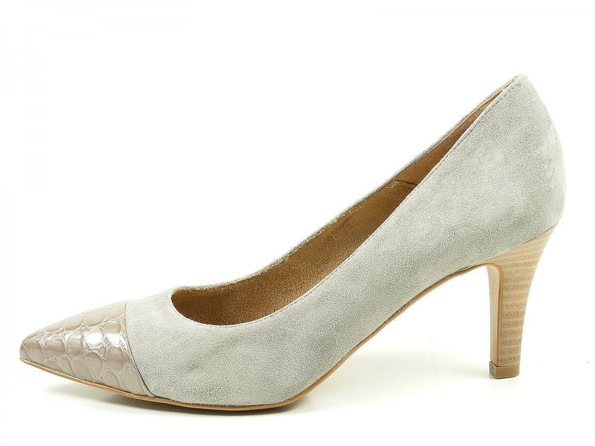 Tamaris Schuhe 1-1-22412-28 Bequeme Damen Pumps, Navy/Croco Sommerschuhe für modebewusste Frau, Navy/Croco Pumps, 0e154a