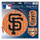 """San Francisco Giants MLB Prismatic 3 Different Die Cut Magnets On Single 11"""" x 11"""" Sheet Magnet"""