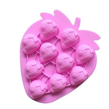 Homiki Molde Silicona Forma Fresa para Chocolate Magdalena Pastel Tarta Hielo Galletas Cupcakes Suave Blando Muy Bonito: Amazon.es: Hogar
