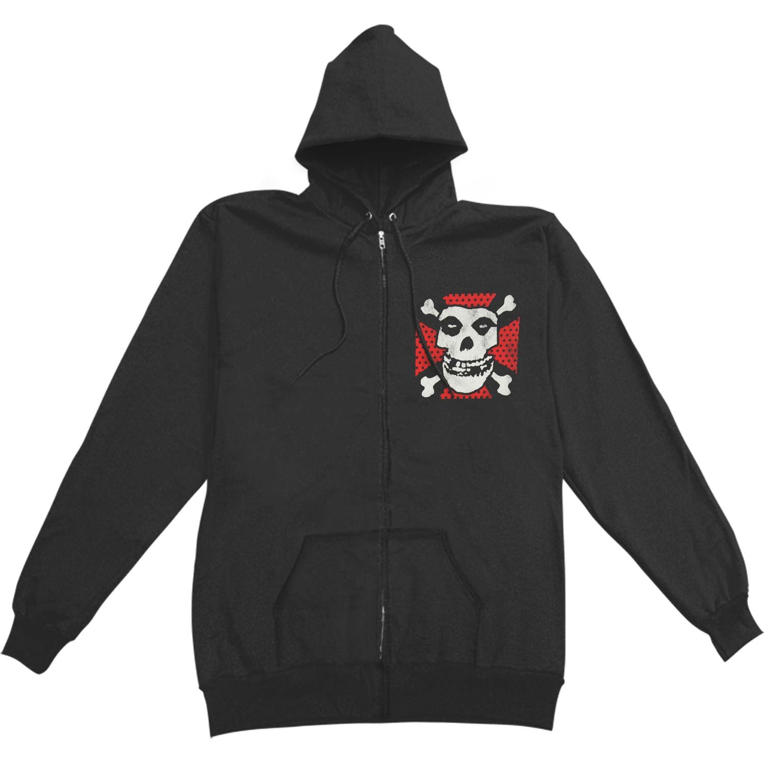 Misfits Men's Mens Hoodie Zippered Hooded Sweatshirt Black BIO DOMES HEADWEAR