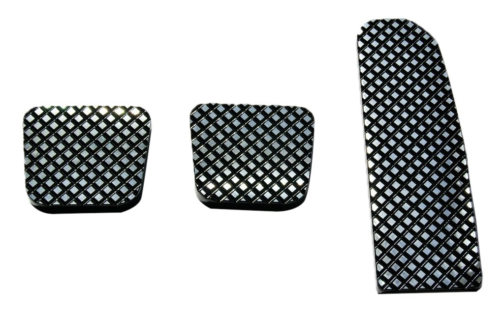 Real Wheels RW235-1BP-FL Black Diamond Billet Pedals (Set of 3) by Real Wheels
