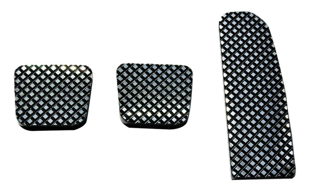 Real Wheels RW235-1BP-FL Black Diamond Billet Pedals (Set of 3)