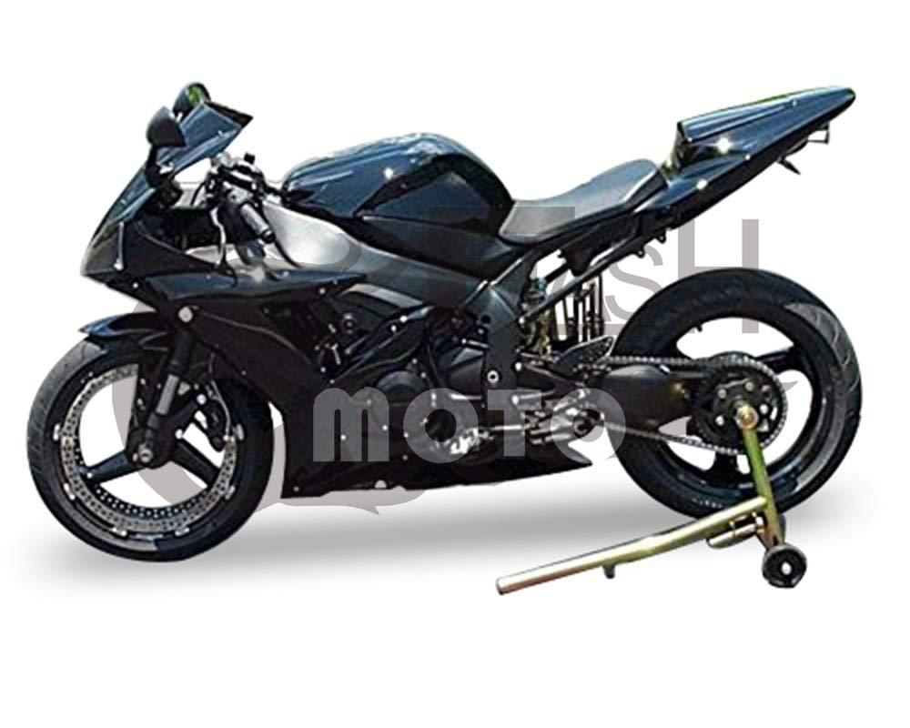 FlashMoto yamaha ヤマハ YZF-1000 R1 2002 2003用フェアリング 塗装済 オートバイ用射出成型ABS樹脂ボディワークのフェアリングキットセット ブラック   B07LF2TQFX