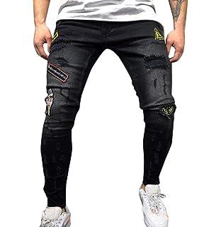 Tomatoa Herren Jeans Hose Stretch Denim Pants Slim Fit Jeanshose Männer  Destroyed Used Freizeithose Herren Hose ab395b6534