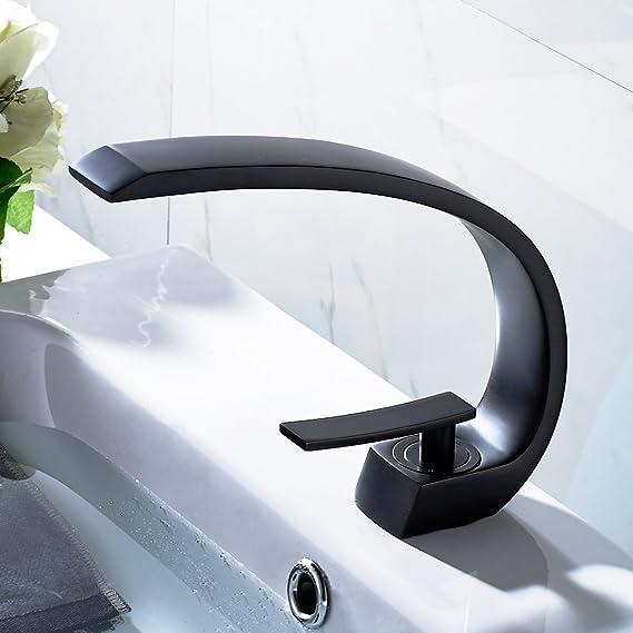 Timaco Wasserhahn Bad Schwarz Mischbatterie Bad Waschbecken Einhandmischer  Armatur Für Badzimmer: Amazon.de: Baumarkt