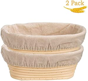 Proofing Basket, Set Of 2,Bread Banneton Proofing Basket - Baking Bowl Dough Gifts For Bakers Proving Baskets (Size : 25X15X8CM)