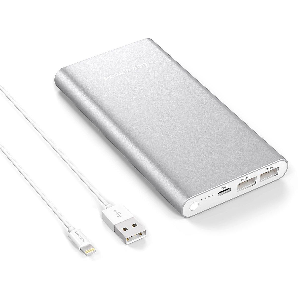 Apple Lightning Cargador Portátil Poweradd Pilot GS mAh Cargador Portátil Batería Externa