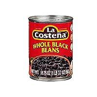 La Costena Whole Black Beans, 1.40 Pound (Pack of 12)