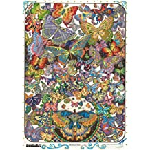 "The Original DoodleArt by PlaSmart - Butterflies, Adult Coloring 24""x 34"" Poster & Non- Toxic  Precision 12 Marker Set, Reduce Stress, Ages 8 and Up"