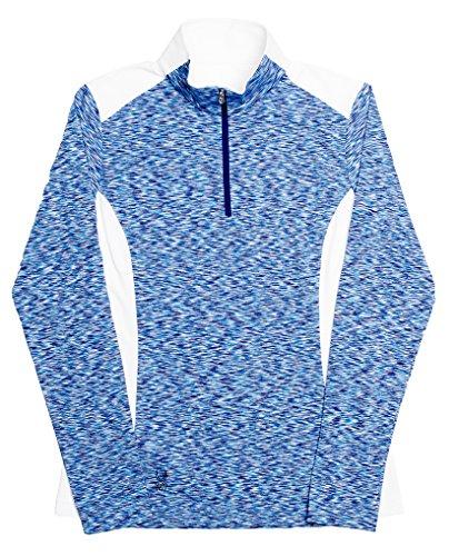 Spyder Training Pants - Spyder Women's Bocca Poly Stretch T-Neck White/Evening/Riviera Sweatshirt 10
