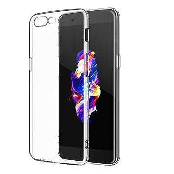 FaaSheegg. OnePlus 5 Caso, Crystal Claro Suave TPU Parachoques ...