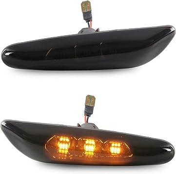 Smoke Led Seitenblinker Seiten Blinker Klarglas Kompatibel Für 1er E81 E82 E87 E88 3er E90 E91 E92 E93 E46 5er E60 E61 X1 X3 Auto