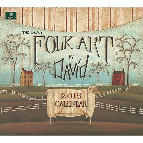 2015 Folk Art By David Wall Calendar - 2015 Folk Wall Calendars Art