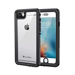 Lanhiem iPhone 6 / 6s Case, IP68 Waterproof Dustproof Shockproof Case with Built-in Screen Protector, Full Body Sealed Underwater Protective Cover for iPhone 6 / 6s (Black)