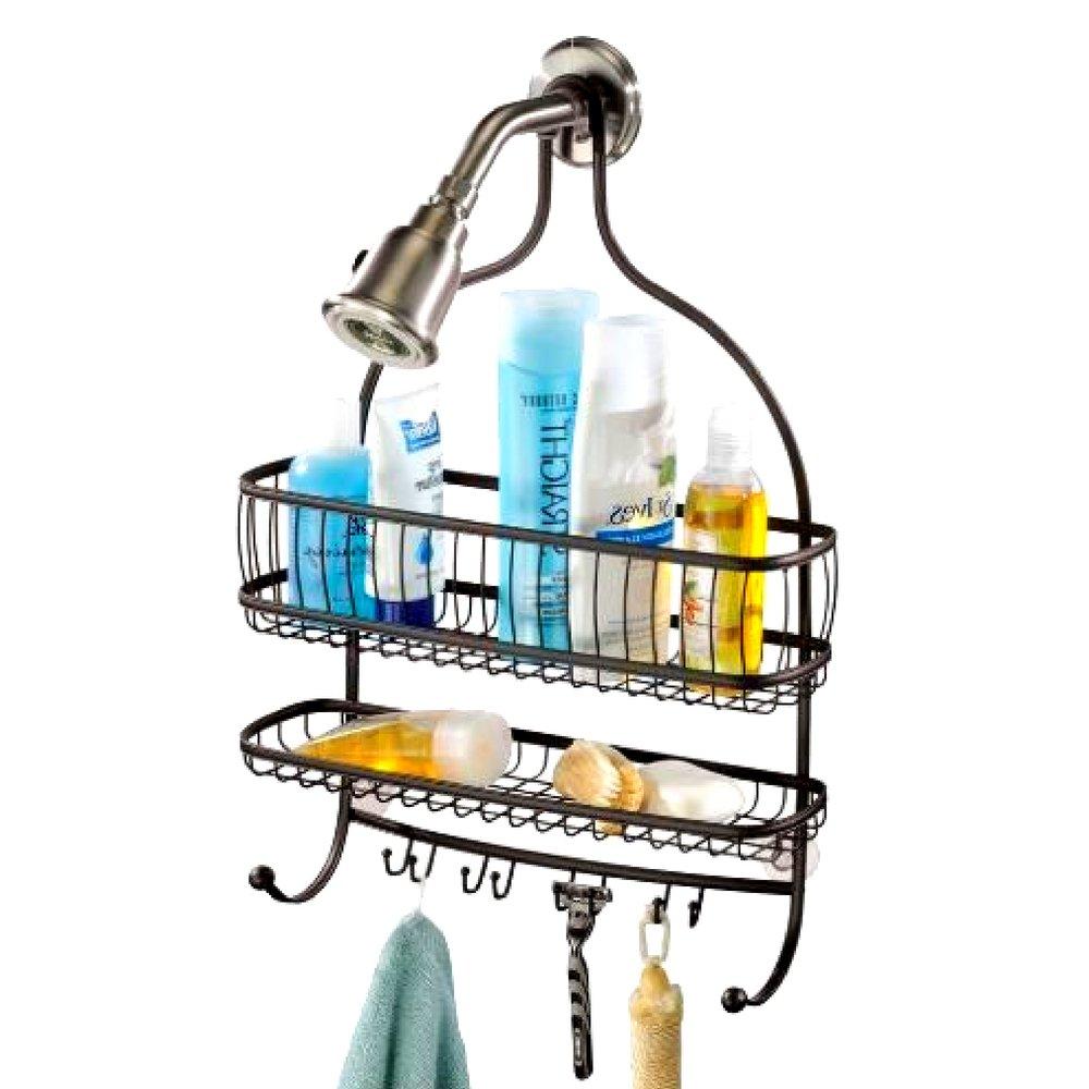 Amazon.com: GHY bronce frotado ducha caddy organizador de ...