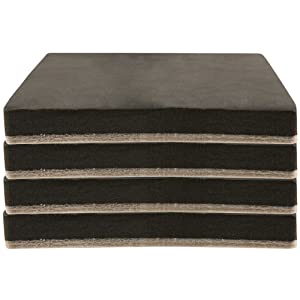 "SuperSliders 4703395N Reusable Felt Furniture Movers for Hardwood Floors- Quickly and Easily Move Any Item, 5"" Square (4 Pieces)"