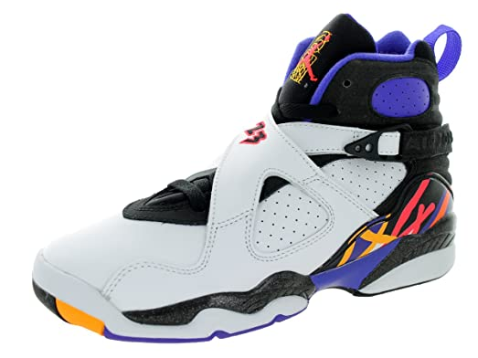 Jordan Air 8 Retro Threepeat BG Big Kids' Shoes White/Infrared-Black-
