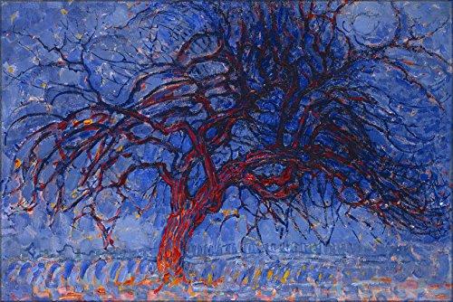 24x36 Poster; Piet Mondrian, 1908-10, Evening; Red Tree (Avond; De Rode Boom), Oil On Canvas ()