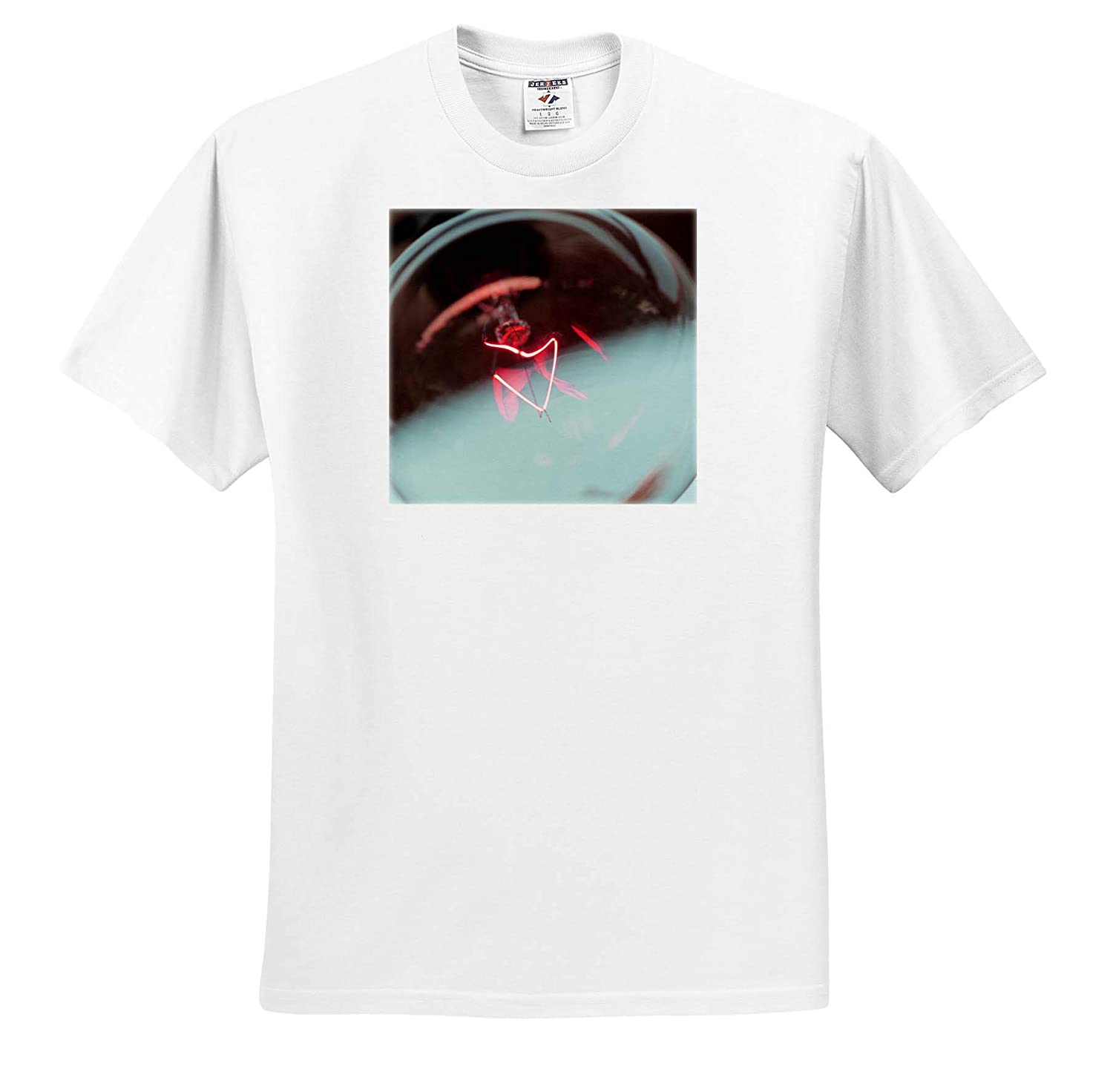 - Adult T-Shirt XL Macro Photograph of a Lightbulb Filament in red and Blue 3dRose Stamp City ts/_316760 Miscellaneous