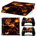 MightyStickers® PS4 Wrap Skin Games Console + 2 Controller Decal Vinyl Protective Covers Stickers f Sony PlayStation 4 - Dragon Ball Z Battle Super Saiyan Vegeta 5 God Goku DBZ Supersonic Fighter
