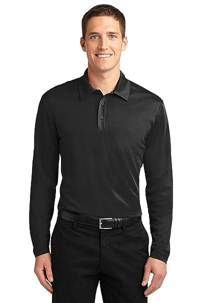 73b916da0326 Port Authority Men's Silk Touch Performance Long Sleeve Polo 3XL Black