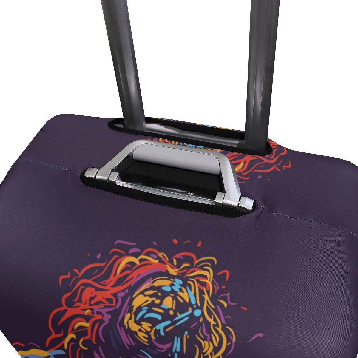 Travel Suitcase Protector Zipper Suitcase Cover Rasta Lion Luggage Cover