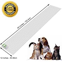Scat Mat, Pet Training Mat, Pet Repellent Mat, Pet Shock Mat, Indoor Pet Deterrent Device, 3 Levels Shocking Safety Pad for Pets Stay Off Sofa, Kitchen Counters, Furniture, Off-Limit Areas, 12 x 60 Inches, Safety Protect
