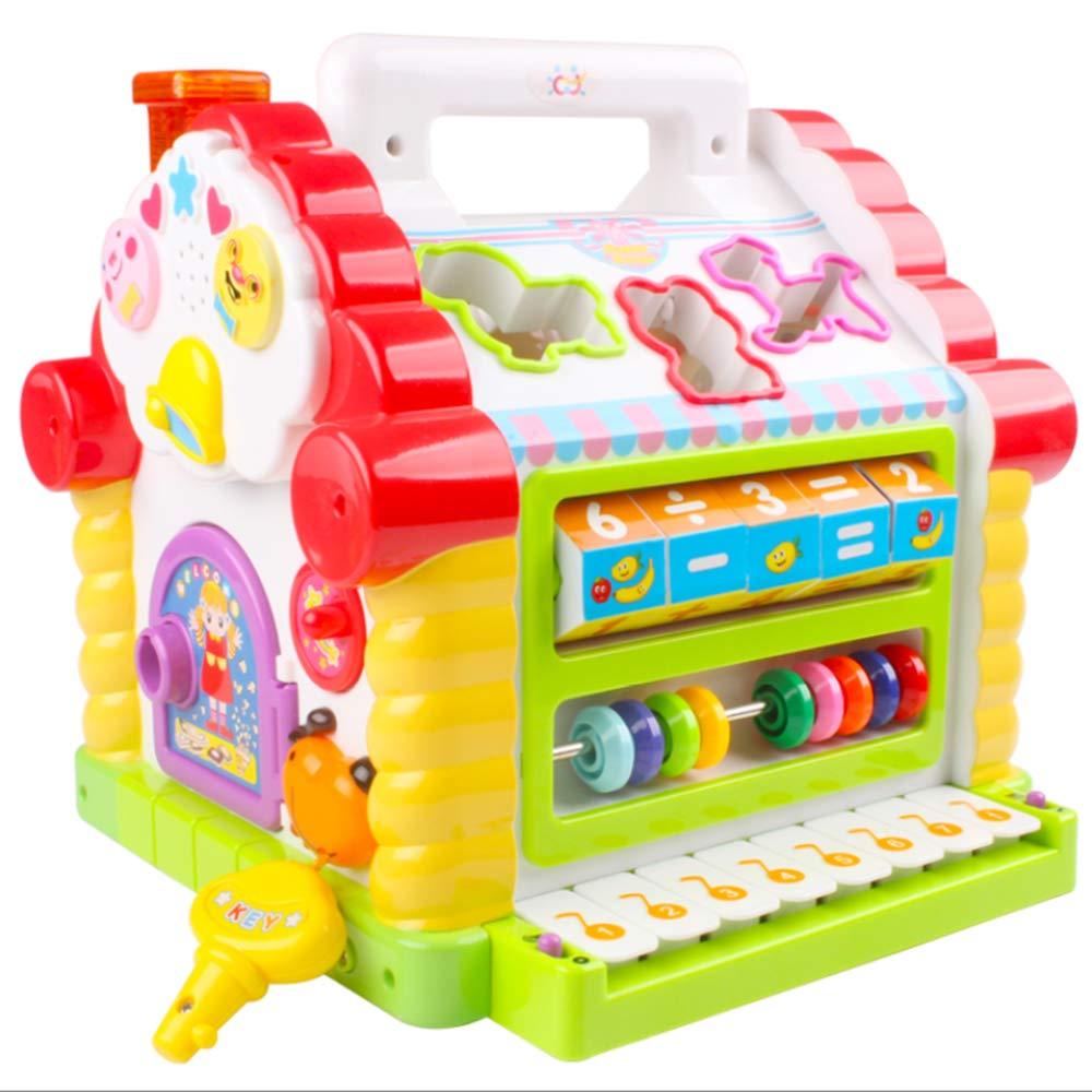 promocionales de incentivo DYMAS Juguete Intelectual Teclado Bloque cognitivo cabaña cabaña cabaña Infantil temprana educación Rompecabezas Diverdeido  colores increíbles