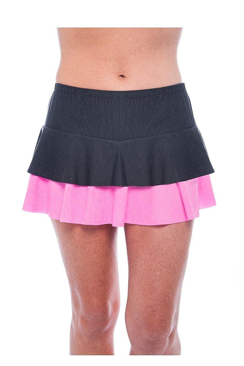 Show No Love Tennis womens : Perfectコレクションパステルダブル階層型スカート Large  B01MYWHYUY, SaganStyle 7d344fe1