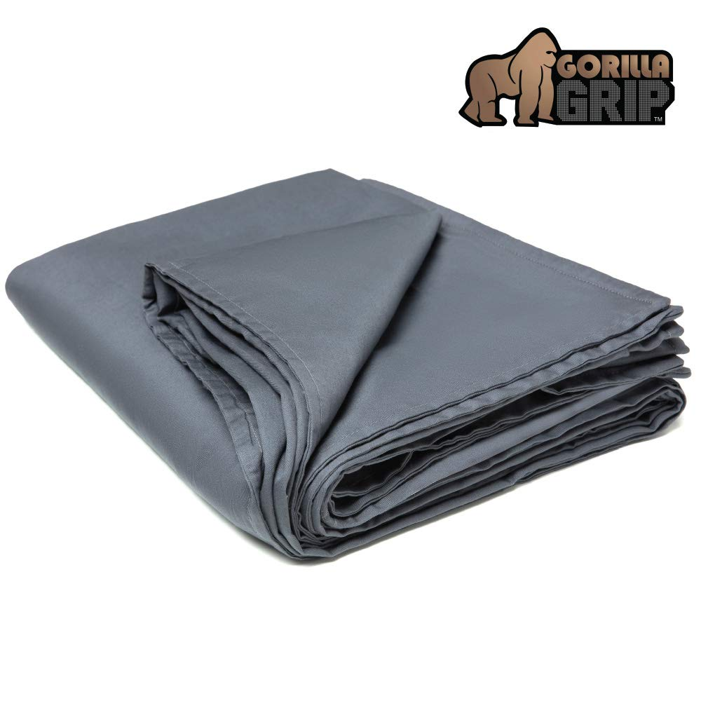 Gorilla Grip Premium Duvet Cover for Weighted Blanket (80x60 Size) Oeko Tex Certified, Washable Protector for Heavy Weight Blankets, Soft Cotton Material, Throw Cover ONLY (Gray)