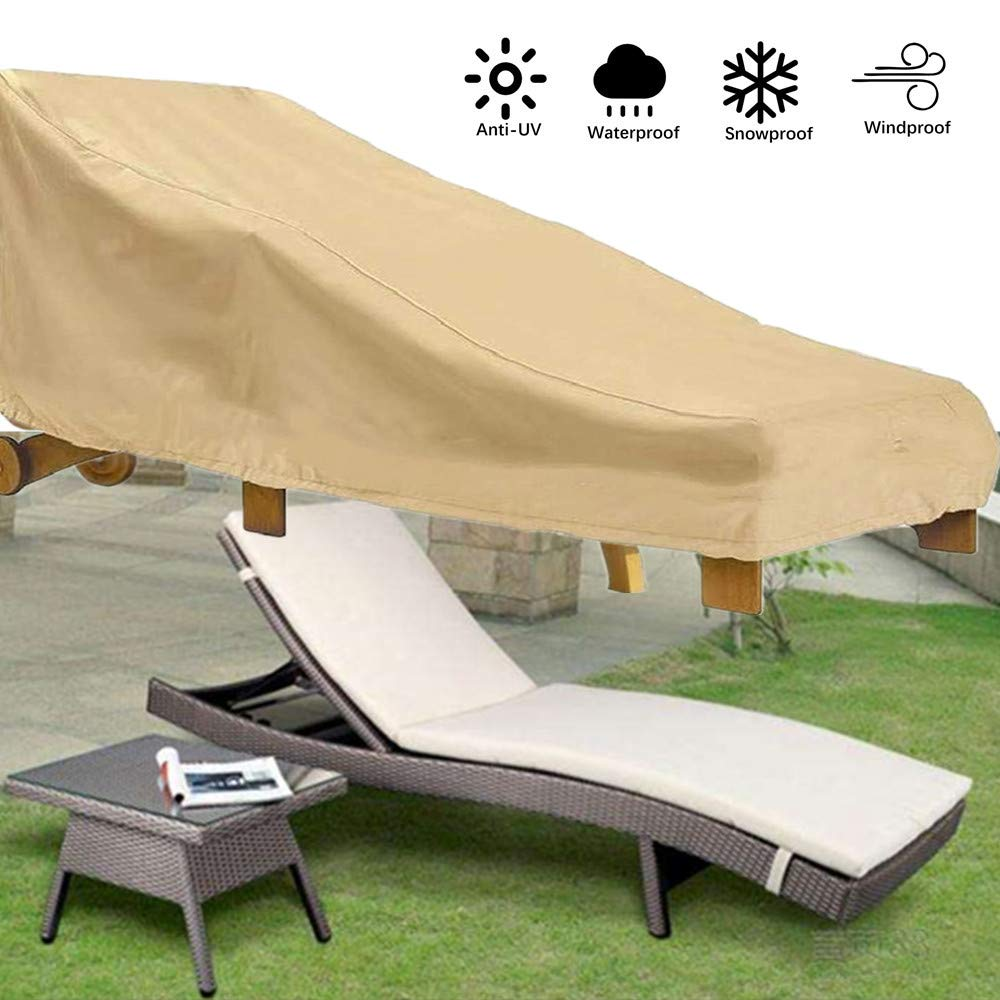 Patio Chaise Lounge CoverOutdoor Sunbed Cover Gardon Sun Lounge Chair Protect...