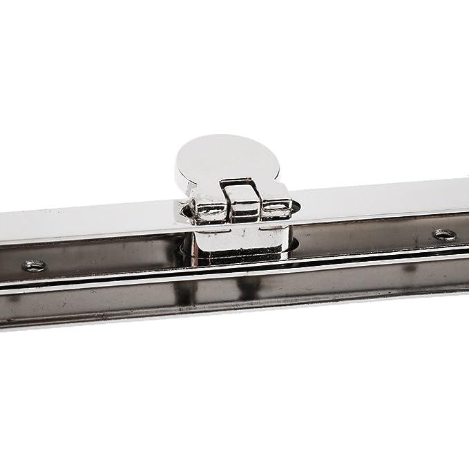 2e3fdbda1e1f Sharplace 6x Metal Purse Frame Wallet Clasp Fastening Handbag Making  Supplies 7.48 inch - silver