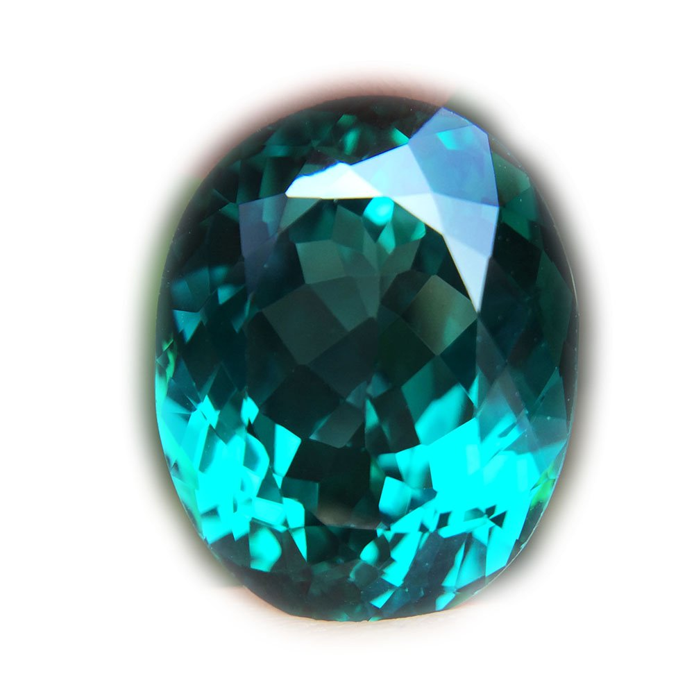 26.32ct Natural Oval Coating Green Topaz Brazil #B