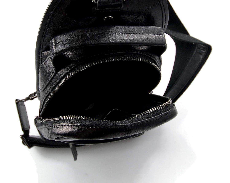 3a22a9667a42 Amazon.com  Mens waist leather women black shoulder bag ladies hobo bag  travel back sling leather satchel backpack leather crossbody bag sling bag   Handmade