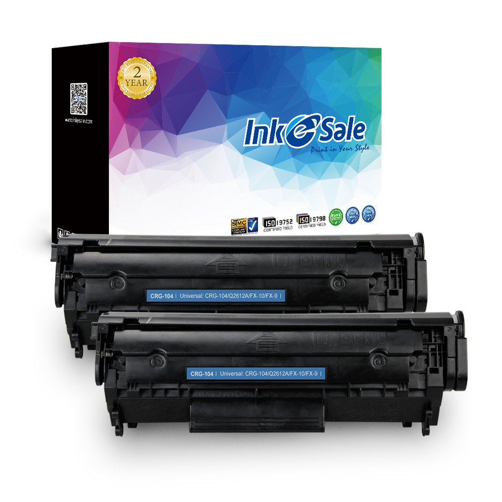 INK E-SALE Compatible Toner Cartridge for Canon 104 CRG 104 FX-10 FX-9  (Black, 2 Pack), for use with Canon ImageClass D420 D480 D450 MF4150  MF4350d