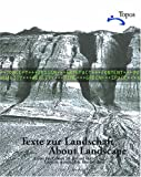 About Landscape: Essays on design, style, time and space, Topos Magazine, Topos - European Landscape Magazine, 3764369779