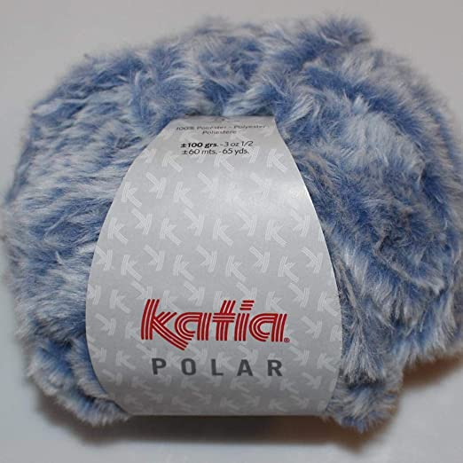 Lanas Katia Polar Ovillo de Color azulon: Amazon.es: Hogar