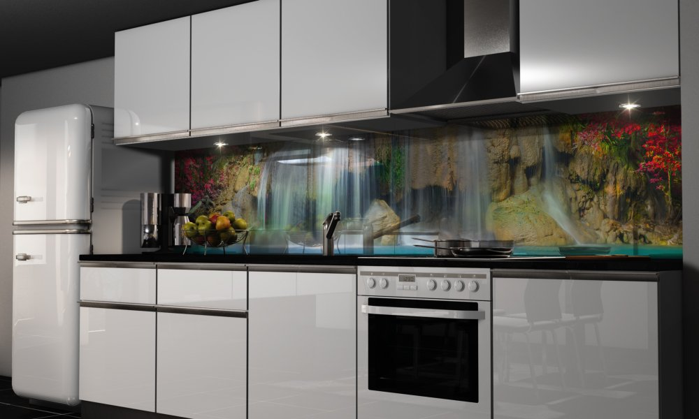 wandfolie kche vor der folierung kuche folieren vorher nachher with wandfolie kche klebefolie. Black Bedroom Furniture Sets. Home Design Ideas