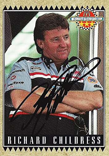 AUTOGRAPHED Richard Childress 1992 Maxx Racing McDonald's All-Star Race Team (Rare) RCR Car Owner VINTAGE Signed Collectible NASCAR Trading Card with COA
