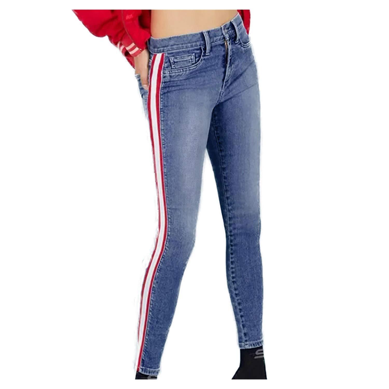 Amazon.com: Faionny - Pantalones vaqueros de cintura alta ...
