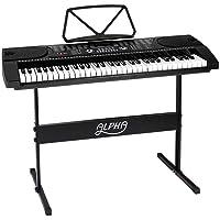 ALPHA 61 Keys Electronic Piano Keyboard Portable Digital Keyboard with Audio Input, Microphone Input, Headphont Output…